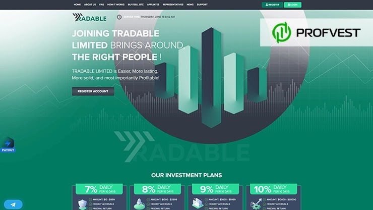 Tradable Limited обзор и отзывы HYIP-проекта