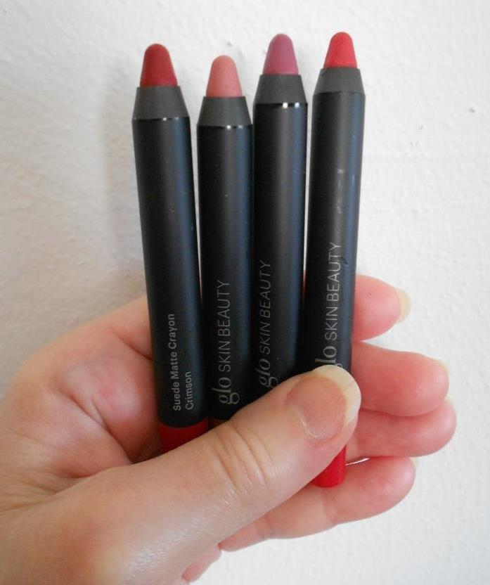 Glo Beauty Suede four suede matte lip crayons