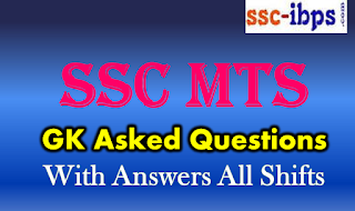 SSC MTS GK Asked Questions with Answers