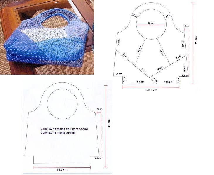 Incrível molde para bolsa muito linda