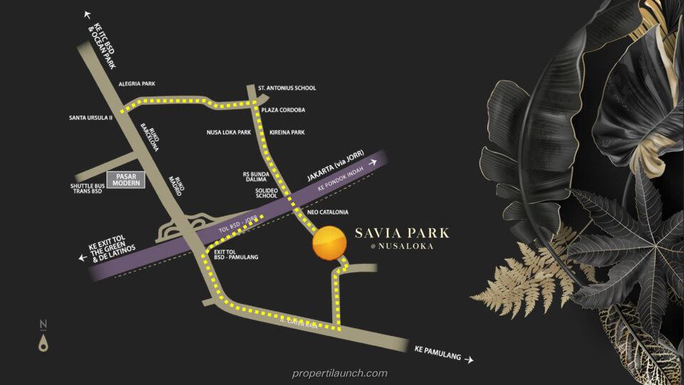 Lokasi Savia Park @ Nusa Loka BSD