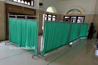 Harga Hijab Masjid Stainless atau Pembatas Sholat atau Partisi Masjid