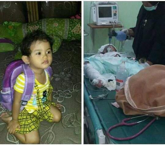 Balita tidak berdosa bernama Intan Olivia Marbun berusia 2,5 tahun itu akhirnya meninggal dunia