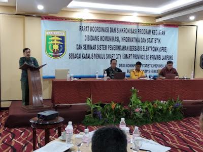 Gelar Rakor, Dinas Kominfo Provinsi Lampung Sosialisasi Sistem Pemerintahan Berbasis Elektronik