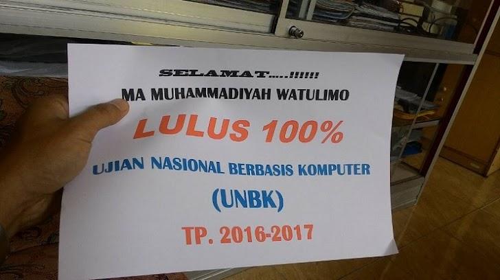 Kegigihan Sukseskan UNBK di MAM Watulimo