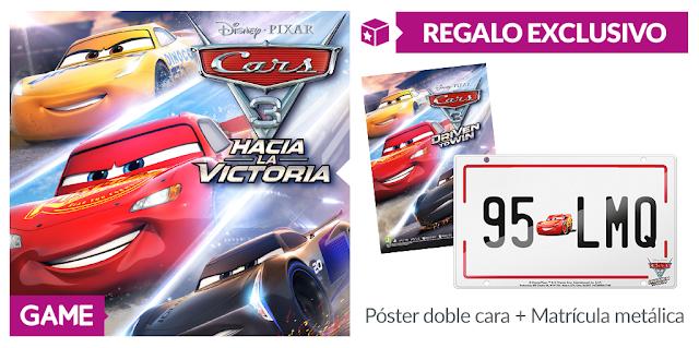 No te quedes sin la matrícula de Rayo McQueen con el regalo de GAME con Cars 3: Hacia la victoria