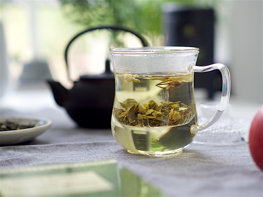 glass cup for loose leaf tea