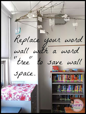 "Classroom Decorating Tip: Replace your word wall with a word ""tree"" to save wall space."