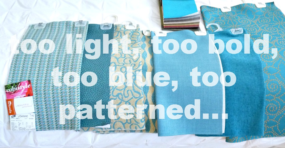 Choosing aqua upholstery fabric