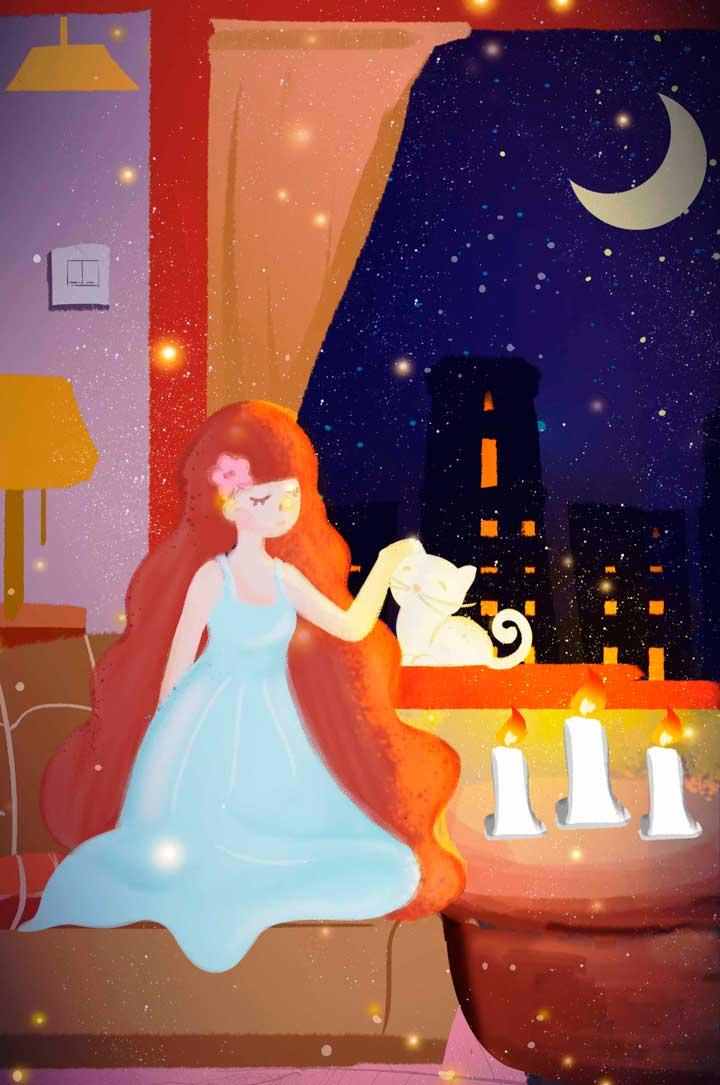 PSD illustration night