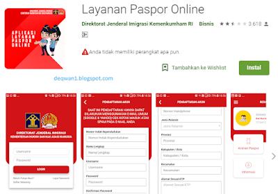 layanan paspor online di android