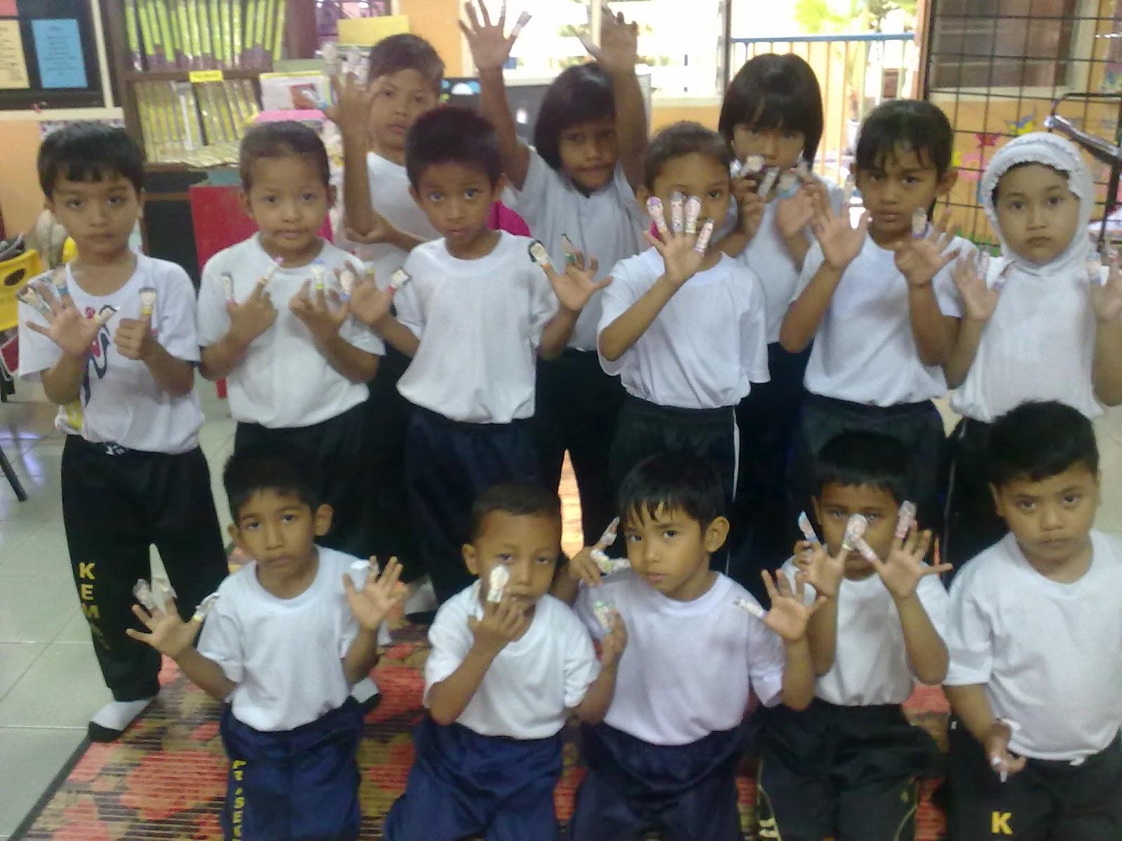 Prasekolah Sk Pulapah Family Finger Puppets