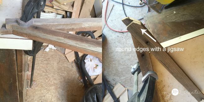 rounding top of a frame legs