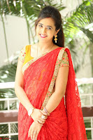 Lasya Cute Beauty in Saree Backless Choli at her Interview ~  Exclusive 050.JPG