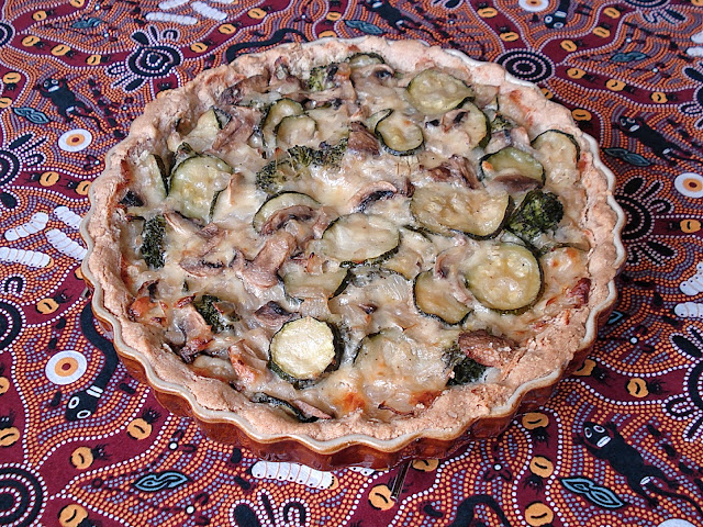 Grain Free Cheese and Vegetable Flan