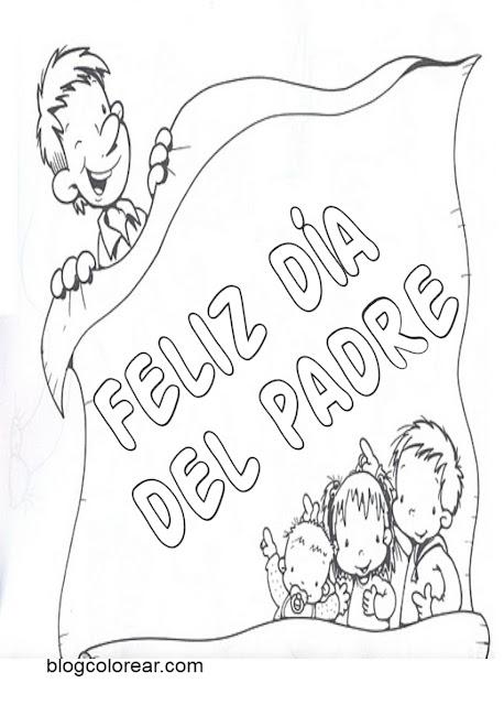 Bonitos dibujos para el Día del Padre para colorear.