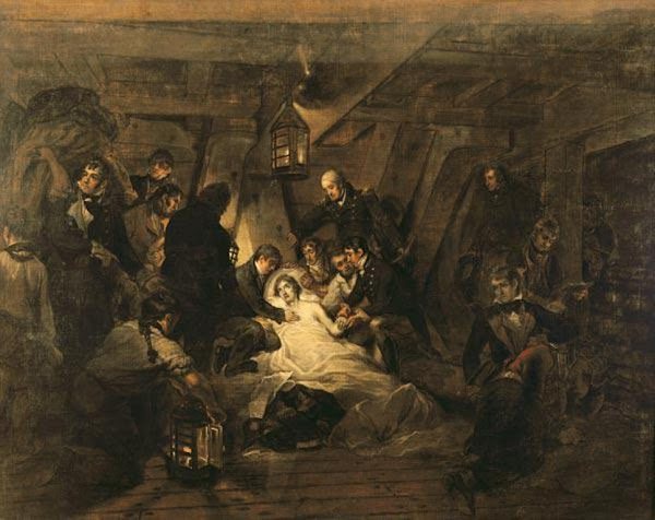 The Death of Nelson by Arthur William  Devis, Macabre Art, Macabre Paintings, Horror Paintings, Freak Art, Freak Paintings, Horror Picture, Terror Pictures