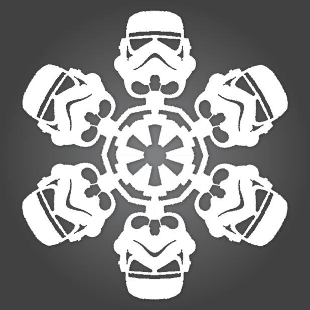 Dagensinn Christmas Snowflakes In The Style Of Star Wars