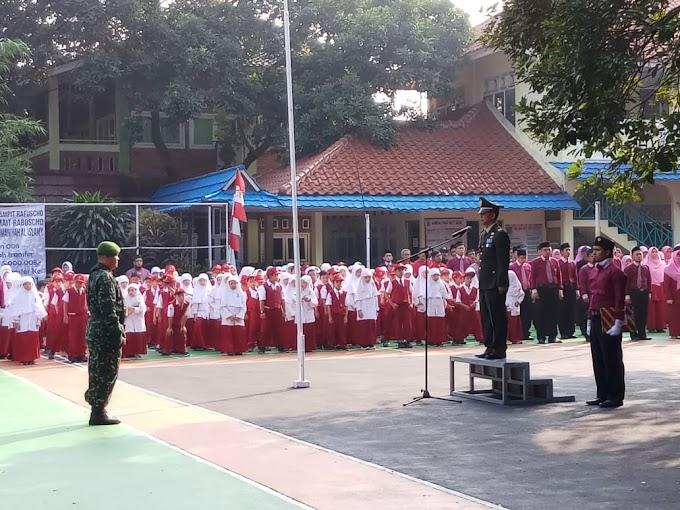 Danramil 03/Sukmajaya Jadi Irup HUT RI ke-73 di SDIT Rahmaniah