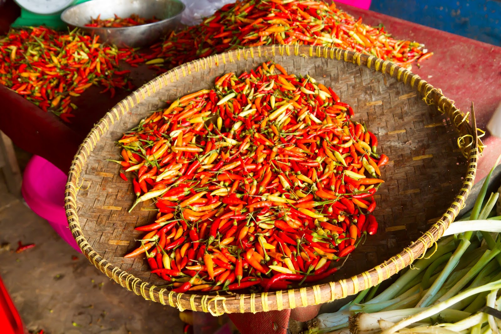 chili peppers at the belitung market