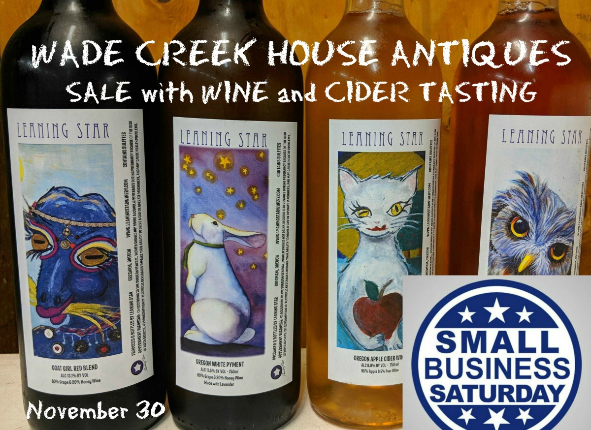 SMALL BUSINESS SATURDAY - SALE AND WINE & CIDER TASTING