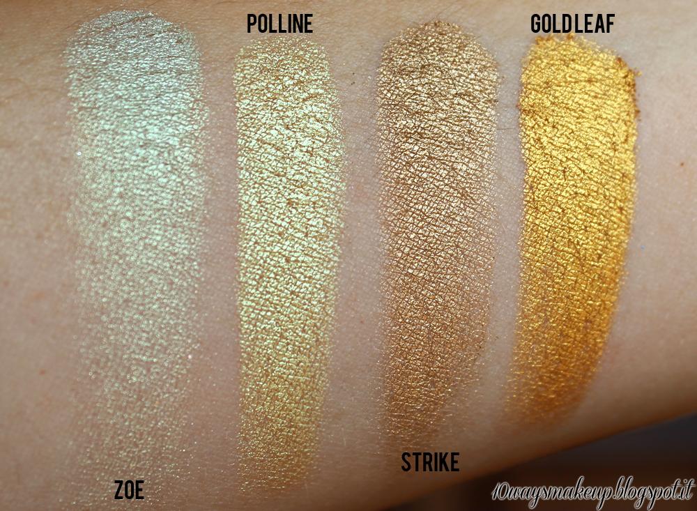 neve cosmetics duochrome polline swatch