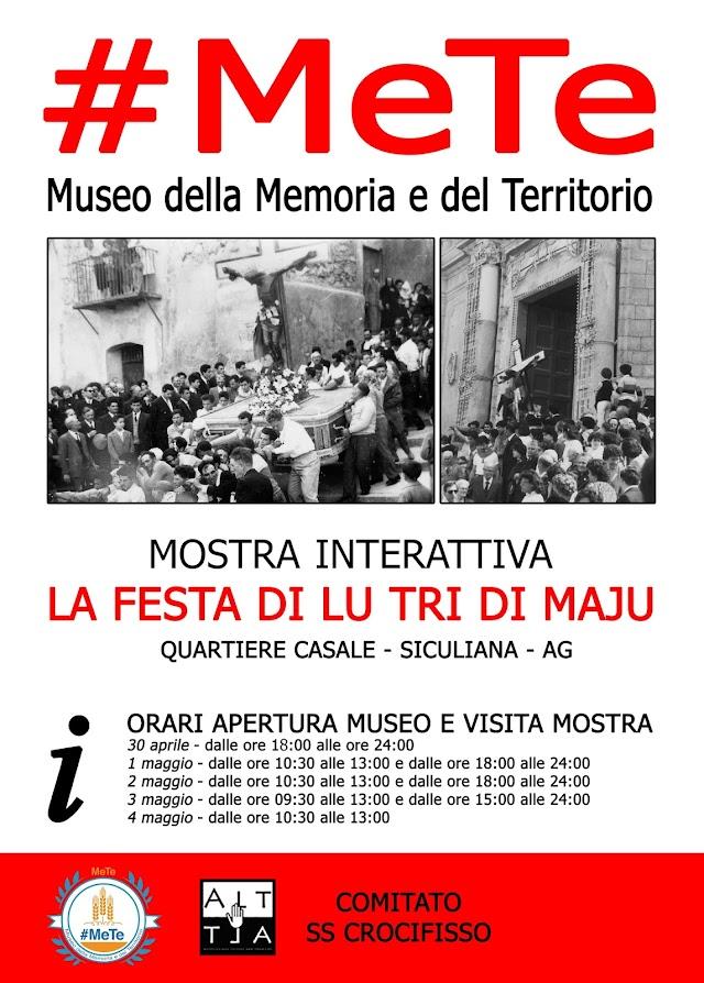 """Museo #MeTe: mostra interattiva """"La festa di lu tri di maju"""""""