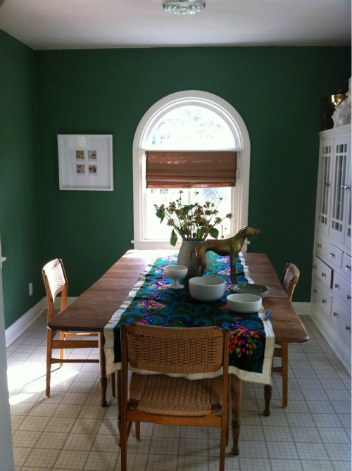 Green Dining Room: Green Street: Dining Rooms Turned Into Home Offices
