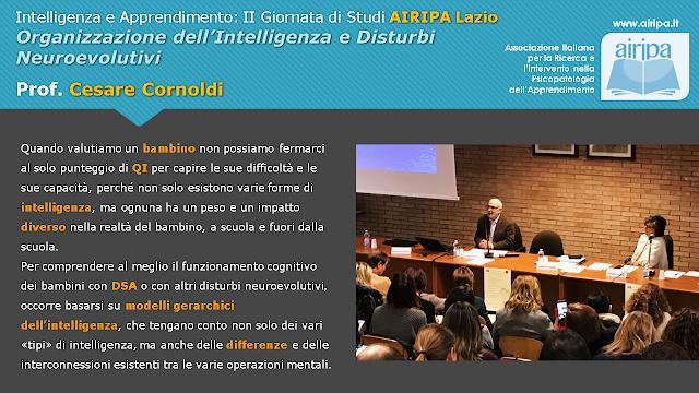 Lezione Magistrale Prof. Cesare Cornoldi: Organizzazione dell'Intelligenza e Disturbi Neuroevolutivi