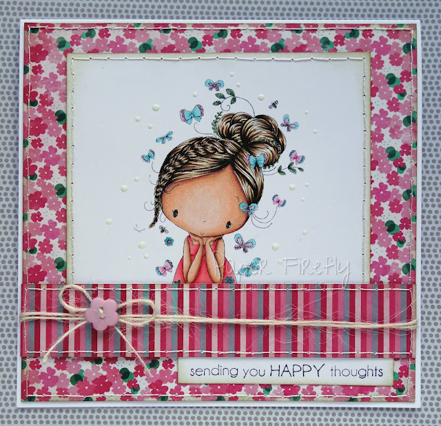Floral girly card, image from All Dressed Up