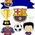 Futbol Club Barcelona Free Printable Cake Toppers.