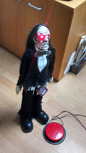 Switch adapted Halloween toy. Zombie.