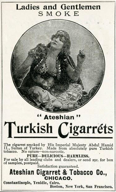 реклама сигарет 1894, Турция