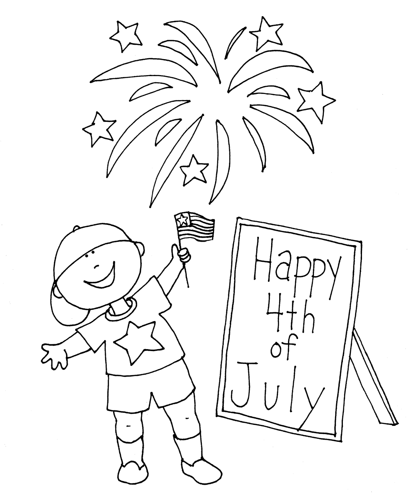 Free Dearie Dolls Digi Stamps Happy Fourth Of July