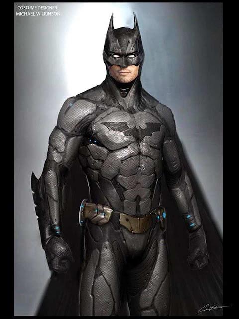 Concept art del traje de Ben Affleck como Batman