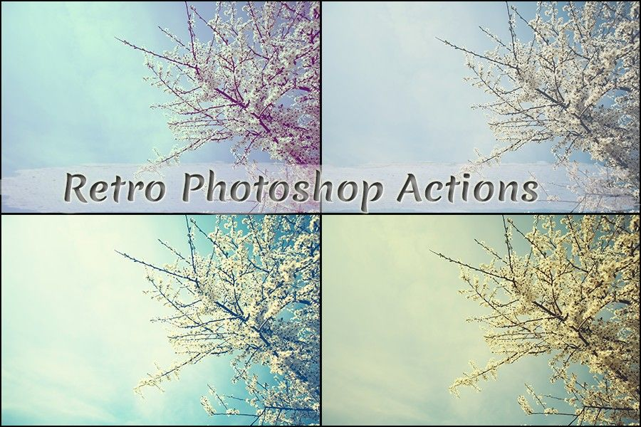 retro photoshop actions