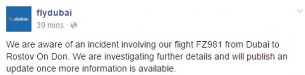 Pesawat Penerbangan FlyDubai Terhempas, Semua Penumpang dan Anak Kapal Maut