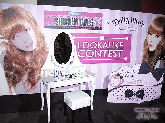 033782cf83c This is a Dolly wink vanity display. Spot the huge Eyelash Case at the  side! ^_^