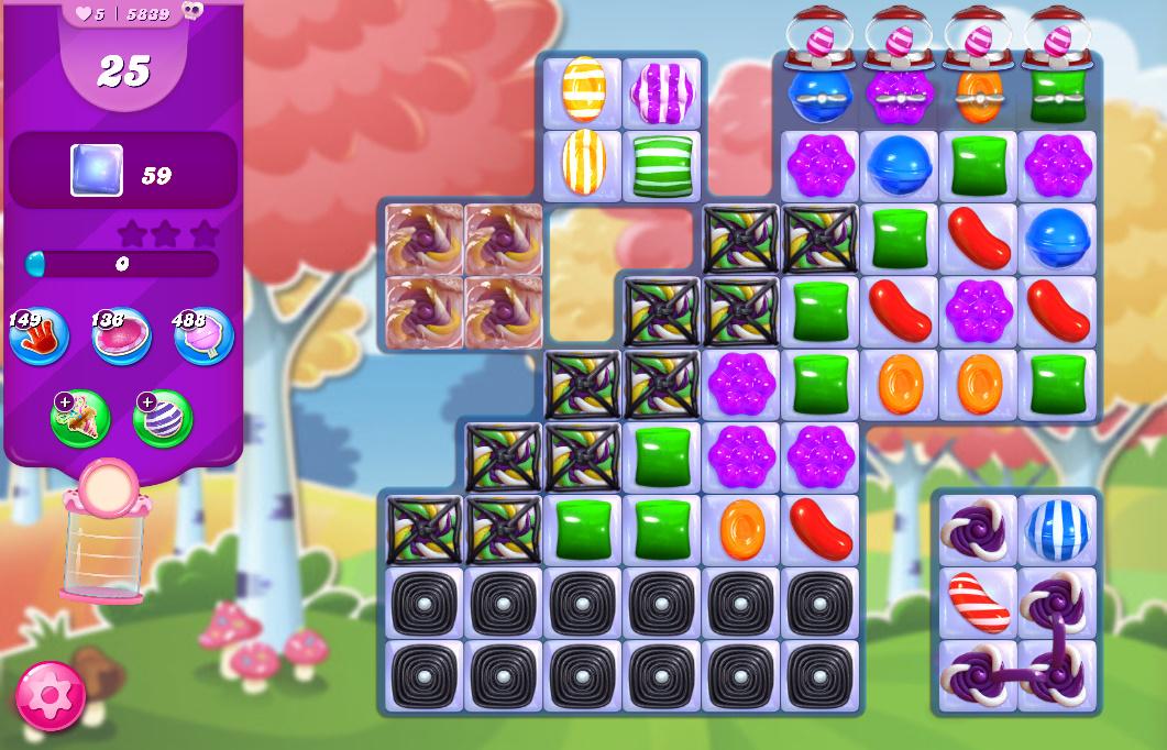 Candy Crush Saga level 5839