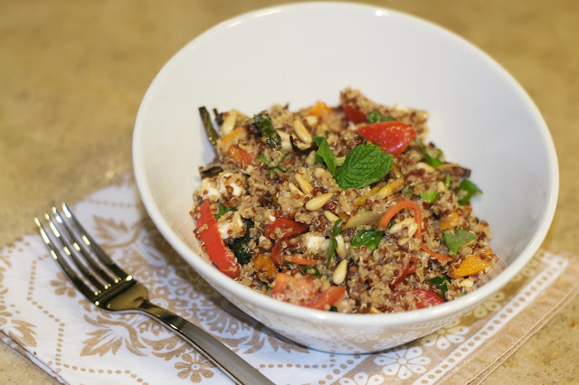 Quinoa Salad with roasted vegetables