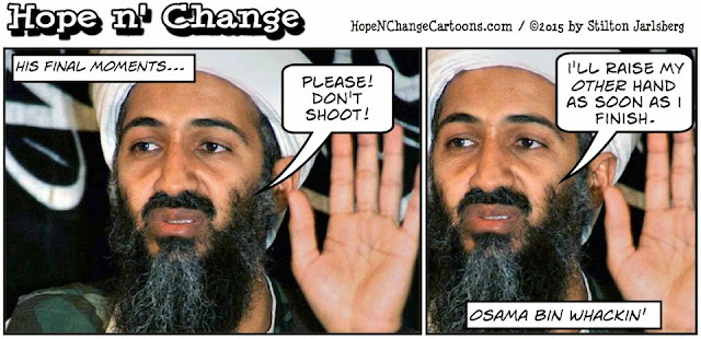 obama, obama jokes, political, humor, cartoon, conservative, hope n' change, hope and change, stilton jarlsberg, osama bin laden, porn, pornography