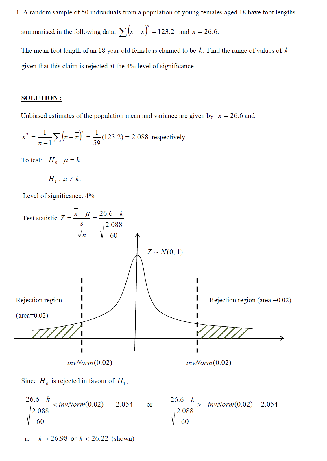 White Group A Level Jc H2 Maths Tuition Hypothesis Testing