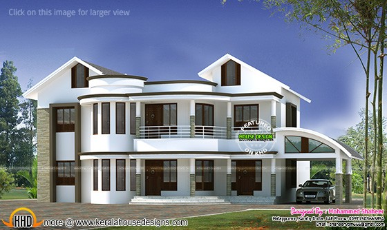3000 Sq Ft Mixed Roof Modern Home Kerala Home Design And