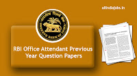 RBI Office Attendant Previous Year Question Papers