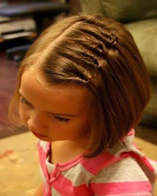 peinado casual recogido con cabello corto para niñas