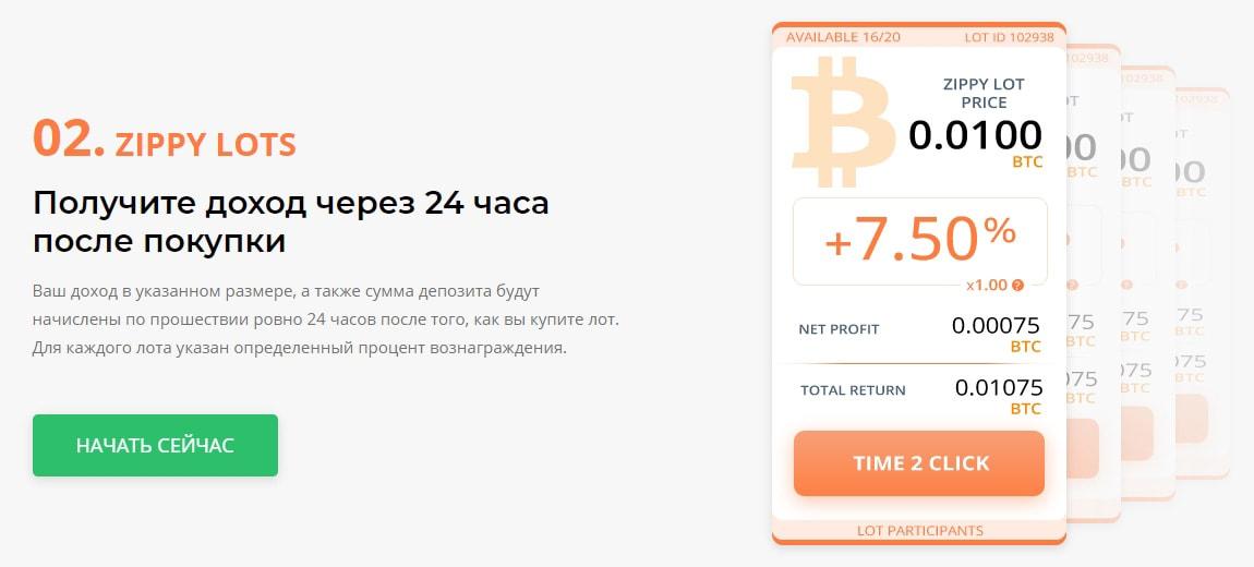 Инвестиционные планы Time2click 2