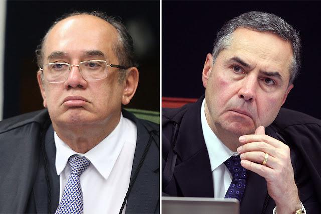 Discussão dos ministros Gilmar Mendes e Luis Roberto Barroso no STF em 2018