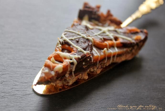 Rezept für Chocolate Caramel Pretz Tarte