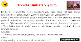 Evvela Bunları Yiyelim - Erzurum Fıkraları - Komikler Burada