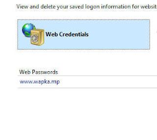 Manage web credentials
